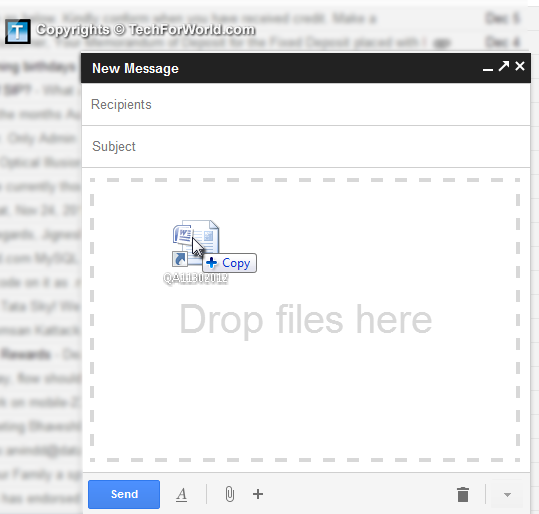 Gmail drag and drop file to attach