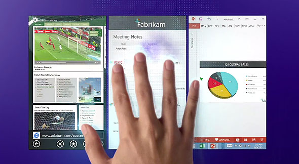 Windows 8.1 better multi-tasking by snap view